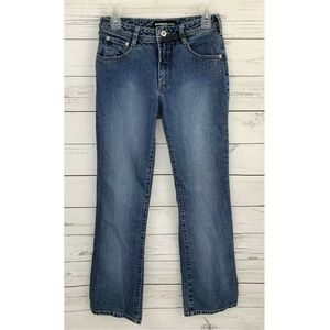 Express Jeans Bootcut Mid-Rise Stretch Blue 5/6